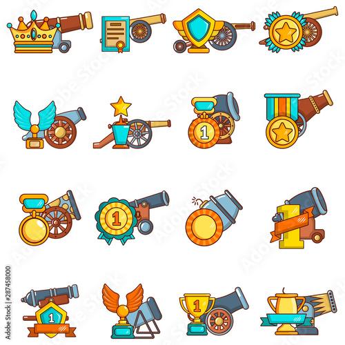 Photo Artillery reward icons set