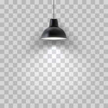 Vector Realistic Black Ceiling...