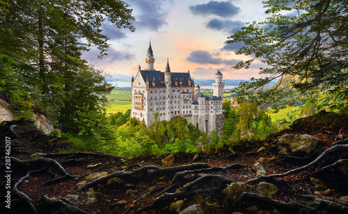 Fotografie, Obraz  Fairy-tale Neuschwanstein Castle in Bavaria, Germany