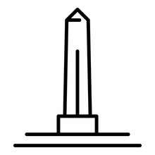Egyptian Obelisk Icon. Outline...