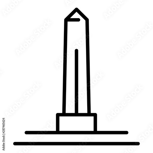 Fototapeta Egyptian obelisk icon