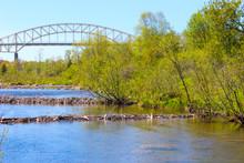 Beaver Dam And Bridge