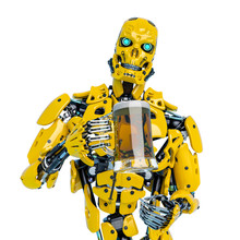 Yellow Bee Android Holding A T...