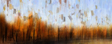 Abstract Painting Of Autumn Tr...