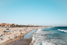 Santa Monica Beach From Pier