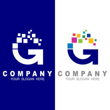 G Logo With  Pixel Motion, Col...