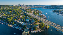 Aerial Footage Of The Seattle Skyline