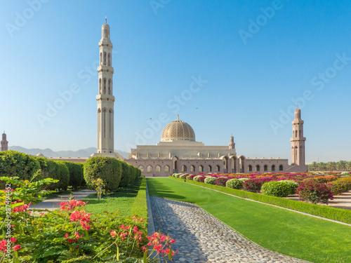 Stampa su Tela Sultan Qaboos Grand Mosque in Muscat (مسقط, Maskat) Sultanate of Oman