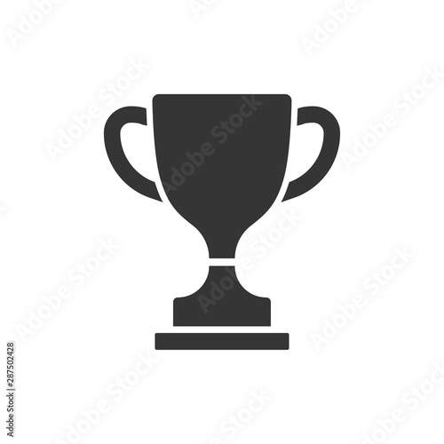 Fototapeta vector icon trophy cup isolated on white