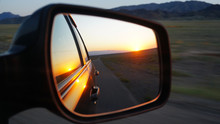 View In The Side Mirror Of The...