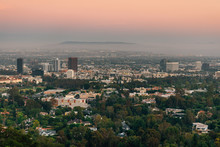 Sunset View From The Getty Center, In Los Angeles, California