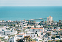 View Of Downtown And The Pacific Coast In Ventura, California