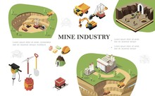 Isometric Mining Industry Composition