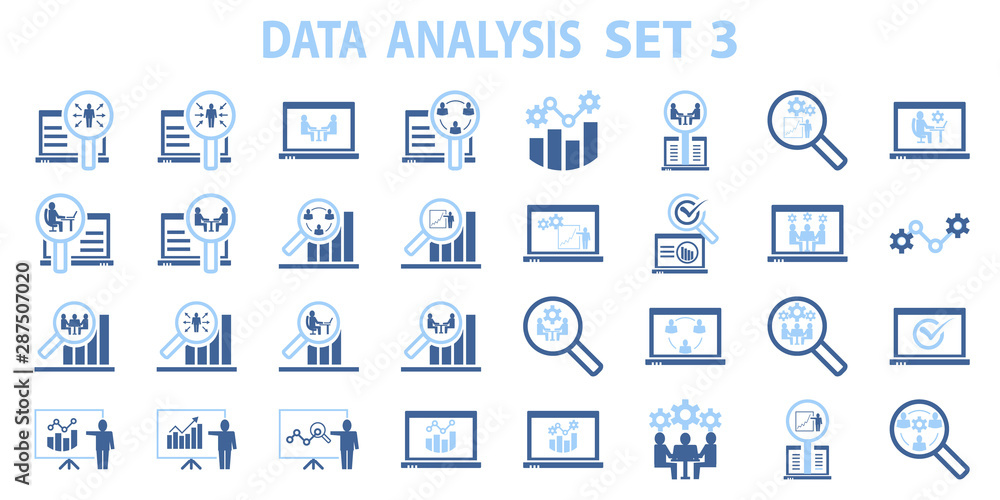 Fototapety, obrazy: Analysis chart data growth increase line seo icon vector illustration. marketing, research, seo, strategy