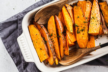 Baked Sweet Potato Slices With...