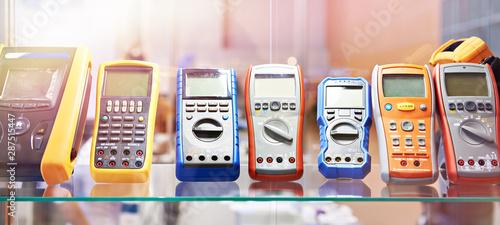 Stampa su Tela  Portable voltmeters in store