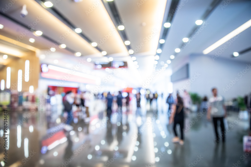 Fototapety, obrazy: Abstract background from blurred shopping mall with light.