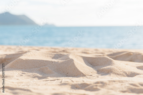 Poster Blanc sea sand sky and summer day