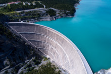 Hydroelectric Power Plant In The Alps - Dam