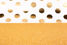 Bright Gold Glitter And Dots C...