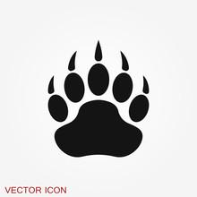 Bear Icon. Vector Concept Illu...