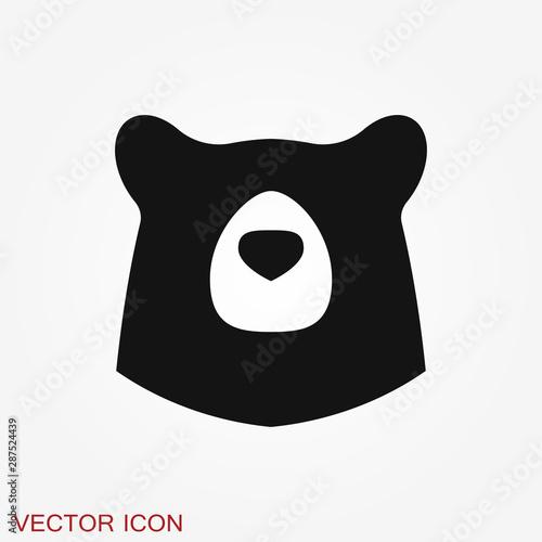 Fotografia Bear icon. Vector concept illustration for design.