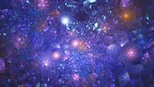 Abstract Blue And Violet Sparkling Background. Fantastic Fractal Texture. Digital Art. 3d Rendering.