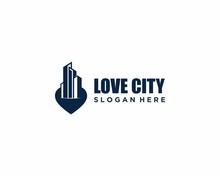 Love City Logo Design Template