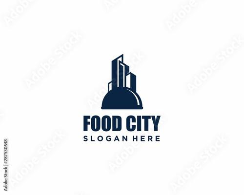 Photo Food City Logo design template