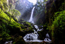 Mae Surin Waterfall At Mae Hong Son Thailand