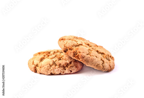 Photo  sweet cookies on white background
