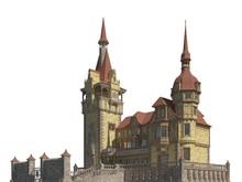 Fairy Tale Castle Isolated On ...