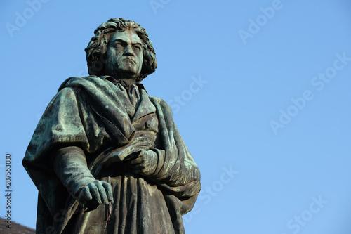 Statue of Ludwig van Beethoven in Bonn Canvas Print