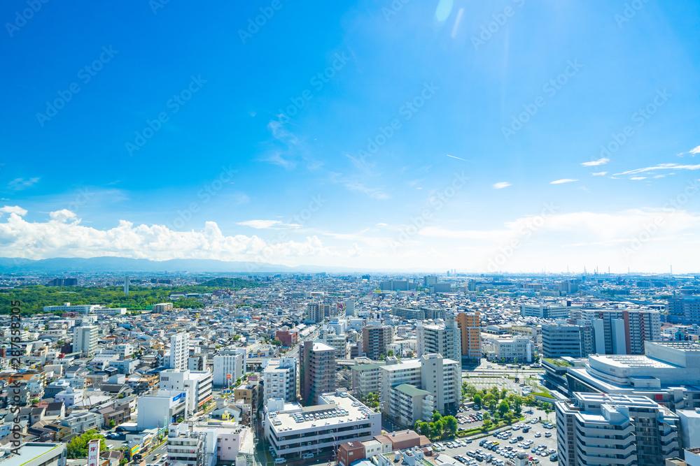 Fototapeta Urban Landscape of Osaka