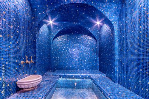 Colorful turkish bath interior Canvas Print
