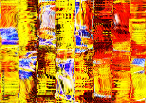 Fototapety, obrazy: Abstract design with art and texture elements. Colorful surface