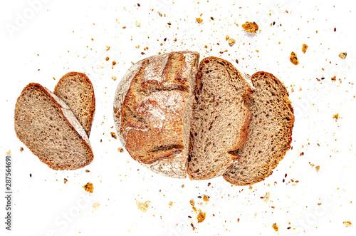 Obraz na płótnie Sliced Multigrain bread isolated on a white background
