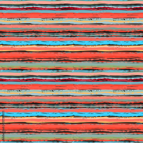 Fototapeta Abstract art striped seamless pattern