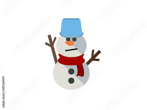 Fototapeta かわいい雪だるまのイラスト