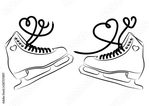 Cuadros en Lienzo Shoes for figure skating