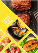 canvas print picture - Food Collage. A design template with various tasty dishes with a place for text or logos