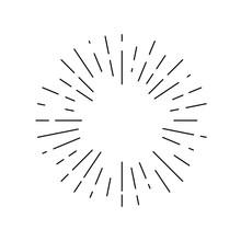Rays Linear Drawn Symbol. Rays...