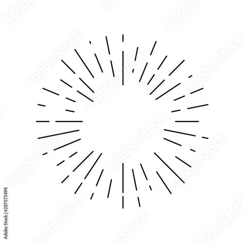 Cuadros en Lienzo  Rays linear drawn symbol