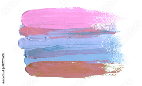Abstract acrylic and watercolor brush stroke painted background. Isolated.