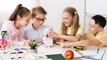 Stem Education. Classmates Cre...