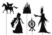 Sleeping Beauty Storytelling, Isolated Shadow Puppets.