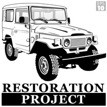 A Classic JDM Offroad 4x4 Vehicle With Hardtop From The 1980s For Restoration Project.
