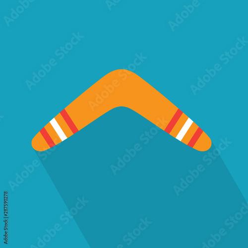 Fotografie, Obraz colorful boomerang icon- vector illustration