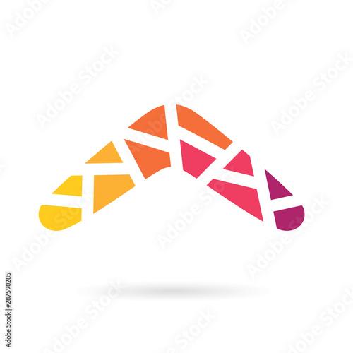 Photo colorful geometric boomerang icon- vector illustration