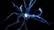 Leinwanddruck Bild 3d rendered illustration of a human nerve cell